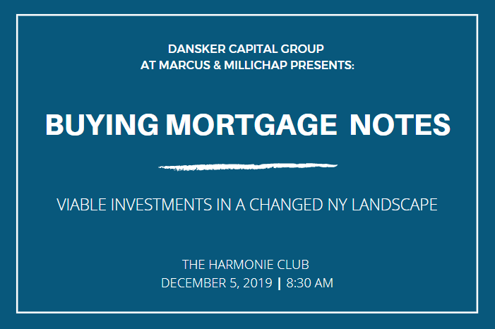 Cover Photo - December 5, 2019,Buying Mortgage Notes